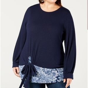 NEW YORK COLLECTION PLUS SIZE 1X SWEATER TOP